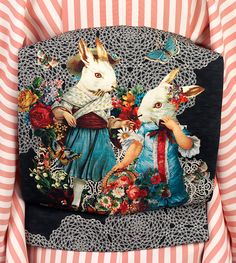 Sash (obi) 'Mademoiselle Ravi sash', silk, designed by Mamechiyo Modern, Japan, Museum Number