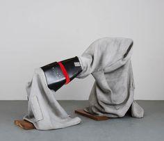 Siobhán Hapaska - Love, 2016  concrete cloth, fibreglass, two-pack acrylic paint and lacquer, oak