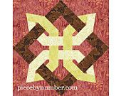 Lugano Clover block, paper pieced quilt patterns, INSTANT DOWNLOAD, PDF pattern, celtic knot patterns, knot quilt, foundation piecing
