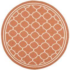 Safavieh Poolside Terracotta/ Bone Indoor Outdoor Rug (6'7 Round) - Overstock™ Shopping - Great Deals on Safavieh 7x9 - 10x14 Rugs