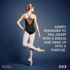 Make your dreams come true! ✨ ✨ wearing the Bloch Spring 17 fashion line leotard Barlam and her Bloch Jetstream pointe shoes. Dancer Quotes, Ballet Quotes, Dance Memes, Dance Humor, Dance Like No One Is Watching, Just Dance, Dance Motivation, Morning Motivation, Zumba
