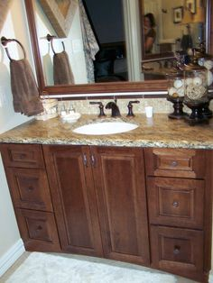 by House of Ficek  Cabinet and countertop combo