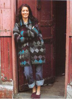 Garter Stitch Entrelac Jacket and Throw in Noro Kureyon | Knitting Patterns | LoveKnitting