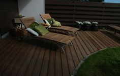 I like the form of this terrace Outdoor Furniture, Outdoor Decor, Sun Lounger, Terrace, Home Decor, Balcony, Chaise Longue, Decoration Home, Patio