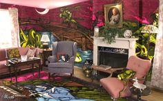 graffiti living room