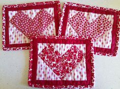 The Peony Teacup: Tutorial: Valentine's Mug Rug (Go! Ahead and Show a Little Love blog hop)-If you don't have an Accuquilt cutter, you can still make this project using your acrylic rulers & rotary cutter. :)