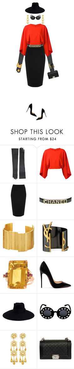 """""""Paris is Burning"""" by takenuser ❤ liked on Polyvore featuring STELLA McCARTNEY, River Island, Chanel, Stephanie Kantis, Yves Saint Laurent, Christian Louboutin, Gucci, Linda Farrow and Jose & Maria Barrera"""