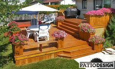 Patio avec SPA par Patio Design inc. Patio Plans, Backyard Plan, Backyard Retreat, Backyard Patio Designs, Backyard Landscaping, Deck Patio, Patio Pictures, Exterior Tiles, Outdoor Projects