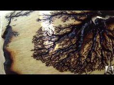 Lichtenberg Device For Fractal Wood Burning - YouTube