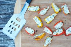 Mini Bell Peppers - Stuffed & Grilled. A flavorful appetizer or side dish for a cookout.