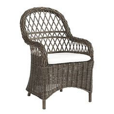 """Brooke Dining Chair Overall: 38 1/2""""H X 24 1/4""""W X 26 1/2""""D Seat: 19 1/2""""H X 19 1/4""""W X 20""""D Arms: 25 3/4""""H Cushion Included. 299 ea"""