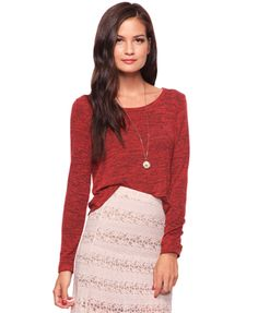Heathered Knit Top   FOREVER21