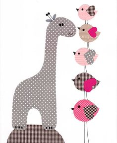 Pink Nursery wall art kids room baby nursery children art giraffe wall art print Pink gray baby gift nursery gift grey gray pink love on Etsy, $14.00
