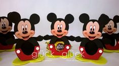 Fiesta Mickey Mouse, Minnie Mouse, Mickey Y Minnie, 3d Craft, Disney Characters, Crafts, Art, Mickey Mouse Birthday, Mickey Party