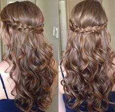 Simple updos for long curly hair - New hair hairstyles 2018 - . - Simple updos for long curly hair – New hair hairstyles 2018 – - Dance Hairstyles, Down Hairstyles, Wedding Hairstyles, Hairstyles 2018, Bridesmaid Hairstyles, Sweet 16 Hairstyles, Latest Hairstyles, Prom Hairstyles For Long Hair Curly, Easy Hairstyles For Medium Hair For School