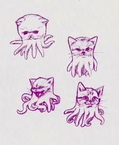 Cthulhu kitties #octopus #kraken