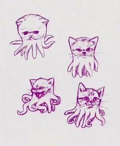 Cthulhu kitties #octopus #kraken