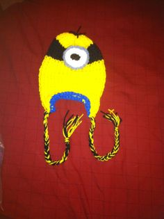 Loom knit minion hat