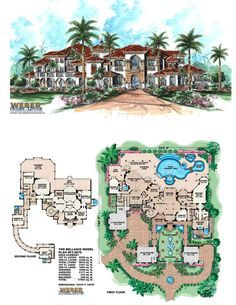 square feet of living area in this two-story luxury plan. 6 bedrooms, 6 full baths, 1 half bath and 6 car garage. More waterfront house plans www. Florida House Plans, Beach House Plans, Luxury House Plans, Dream House Plans, House Floor Plans, Luxury Houses, Luxury Apartments, Beach Mansion, House Plans Mansion