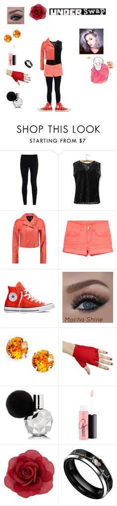 """ a date with underswap papyrus "" by honeyswamp ❤ liked on Polyvore featuring NIKE, T By Alexander Wang, Converse, L. Erickson, MAC Cosmetics and Accessorize"