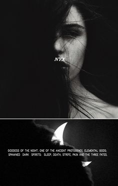 """""""Nyx with her gentle ban on man's activities  descended on the company.  She put the world to sleep."""" #myth"""