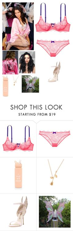 """Victoria secret show with Bella"" by joelene-garcia ❤ liked on Polyvore featuring Victoria's Secret, ban.do and Sophia Webster"