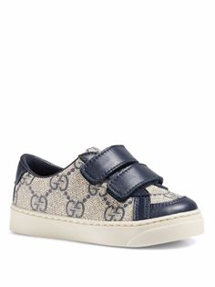603088f22 Gucci Baby & Toddler's GG Supreme Grip-Tape Sneakers- Blue (Size 7