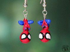 Spider-Man earrings.