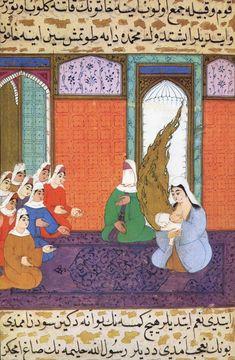Siyer-i Nebi - Muhammad bei seiner Amme Halima Sadia bint Dhuaib - محمد بن عبد الله - Wikimedia Commons