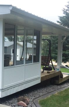 Enjoy your deck more this year! Add a 3 season sunroom, 4 season sunroom, or patio cover from B Wise Contractors! Sunroom financing available OAC. Aluminum Uses, Extruded Aluminum, Four Season Sunroom, Covered Decks, Glass Roof, Sunrooms, Gazebo, Outdoor Structures, Patio