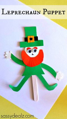 Simple Puppet Craft For St. Patrick's Day