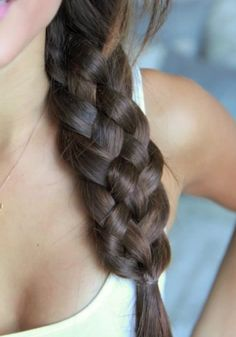 please be easy :: How to Do a Five-Strand Side Braid :: hair video tutorial