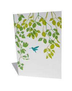 ilee - Hummingbird letterpress notecard set