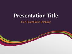 Pink wave powerpoint template presentationgo pinterest free purple abstract wave powerpoint template title slide with dark background toneelgroepblik Choice Image