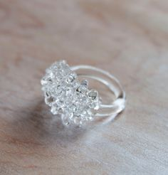 handmade glass cluster ring $38 from UrbanRevisions on Etsy