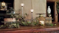 Rustic wedding desert table
