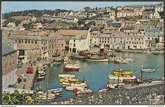 Inner Harbour, Mevagissey, Cornwall, 1966 - Postcard
