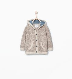 ZARA - KIDS - Hooded button cardigan