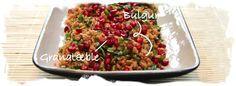 Bulgursalat med krydderurter og granatæblesirup