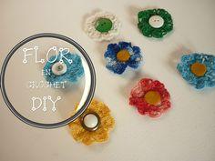 Manualidades: COMO hacer  FLOR en CROCHET DIY - CROCHET FLOWER in DIY
