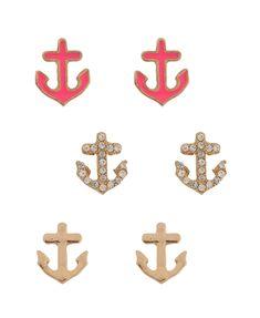 Anchors Earring Set | FOREVER21 - 1011409561