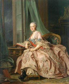 1757 Anastasia Ivanovna, Countess of Hesse-Homburg, Princess Trubetskaya by Alexander Roslin (National Gallery of Victoria, Melbourne Australia)