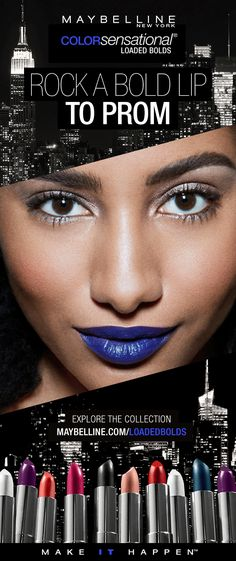 Color Sensational The Loaded Bolds Lipstick by Maybelline. Creamy lipsticks in bold lip colors from deep plums, electric blues, vibrant reds to natural nudes. Orange Lipstick, Beauty Makeover, Love Lips, Color Sensational, Diva Nails, Smooth Lips, Beautiful Lips, Trends, Beauty Make Up
