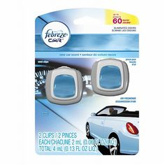 Febreze Car Vent Clips Air Freshener New Car - 0.06 oz.