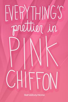 Don't you think? #PinkChiffon