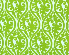 Green  Valance. Chartreuse and white Window Valance. Green curtain. Green swirl. Cotton.  Curtain. Window treatment.  Choose  your sizes by TwistedBobbinDesigns on Etsy