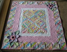 The Nifty Stitcher: Scrappy Strings Baby Quilt