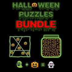 Pumpkins, Ghosts, and Bats, Oh My! Halloween Puzzles, Halloween Themes, Maths Puzzles, Teacher Pay Teachers, Task Cards, Teacher Newsletter, Bats, Ghosts, Elementary Schools