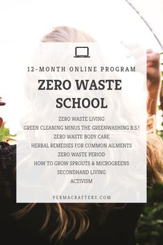 Zero Waste School - Permacrafters - Join the Zero Waste School for a journey to an eco-friendly lifestyle! Herbal Remedies, Home Remedies, Health Remedies, Eco Friendly Cleaning Products, Green Cleaning, Sustainable Living, Zero Waste, Body Care, Herbalism