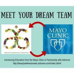 Meet your dream team! #Arbonne has partnered with #Mayo Clinic. We've got you covered from head to toe. Visit my web store at www.surshae.com or my FB page at surshae @Arbonne International. Consultant ID: 21565488